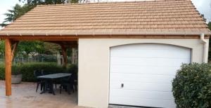 Garage béton et auvent