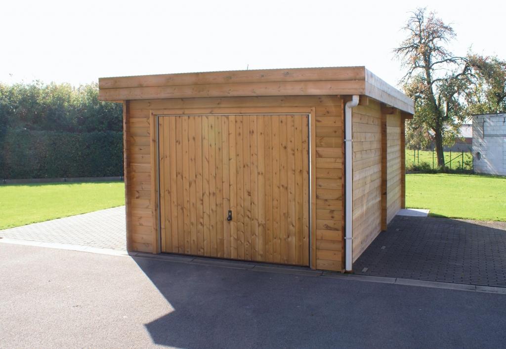 Garages bois ou b ton vente conseil et installation kopec for Imposition garage ou abri de jardin