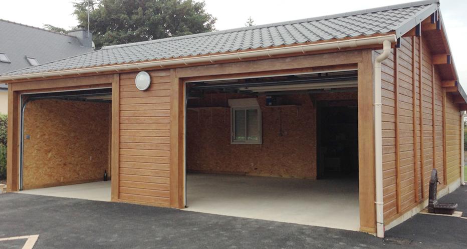 Garage rennes bois ou b ton vente conseil installation for Ajouter garage contre maison